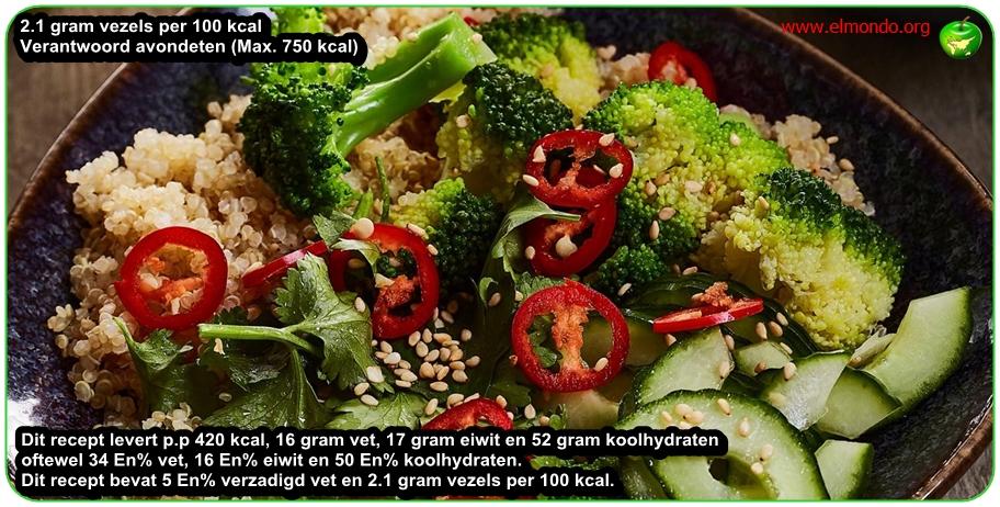 Broccoli-salade met quinoa voor 4 personen